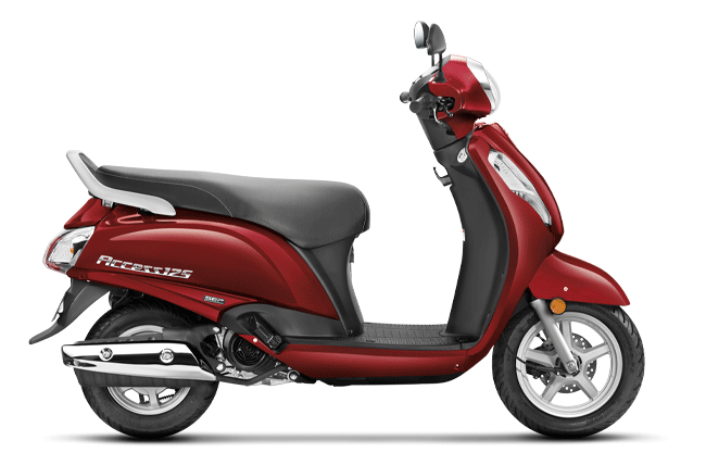 Candy Sonama Red (Variants available - Alloy: Disc brake; Steel: Drum brake)