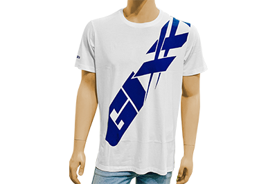 WHITE T-SHIRT GIXXER FULL-M, L, XL, XXL